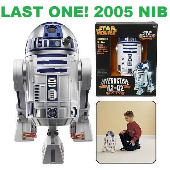 Star Wars R2D2 Interactive Astromech Droid Robot Voice Command Hasbro 2005 NIB