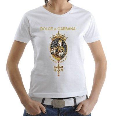 Dolce & Gabbana Gold New WOman Fashion T-Shirt! All Sizes S-2XL.