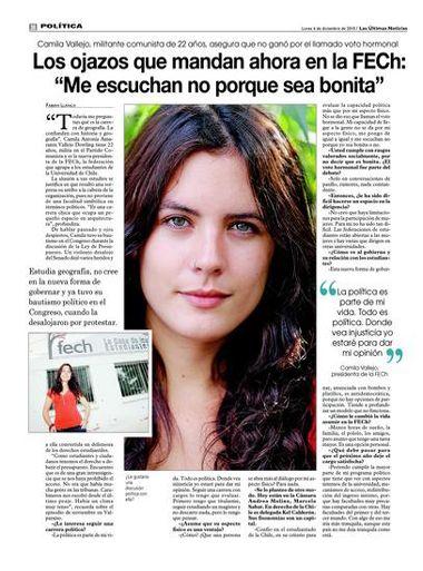 Camila Vallejo, líder de movimiento estudiantil chileno. Diputada en su país a los 22 años. #YoOrando