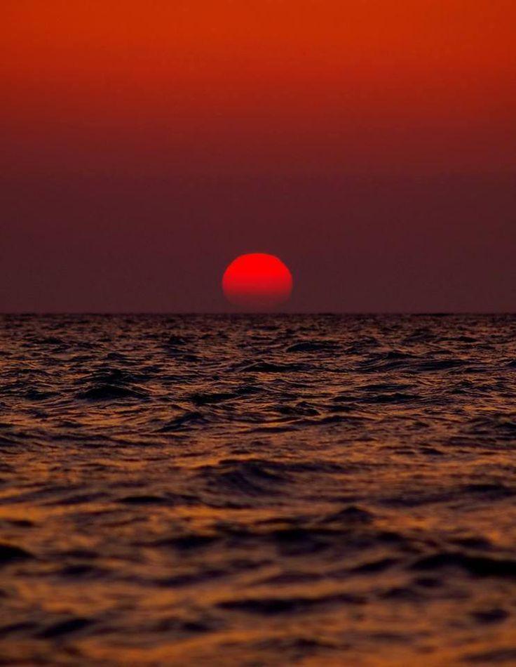 Beautiful sunset from Psara