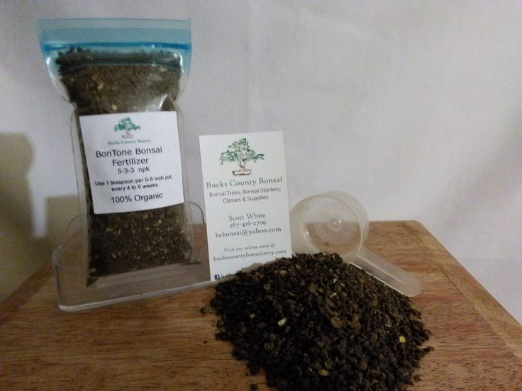 8 oz. Bonsai Fertilizer, Bontone, Organic Bonsai Fertilizer, Slow Release Fertilizer by BucksCountyBonsai on Etsy