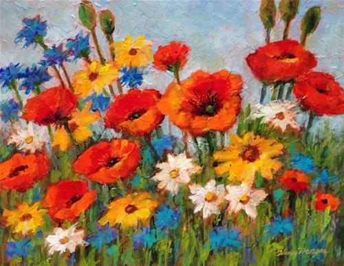 "Daily Paintworks - ""Fantasy Garden"" - Original Fine Art for Sale - © Nancy F. Morgan"