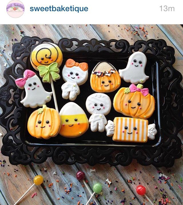 Adorable Halloween cookies