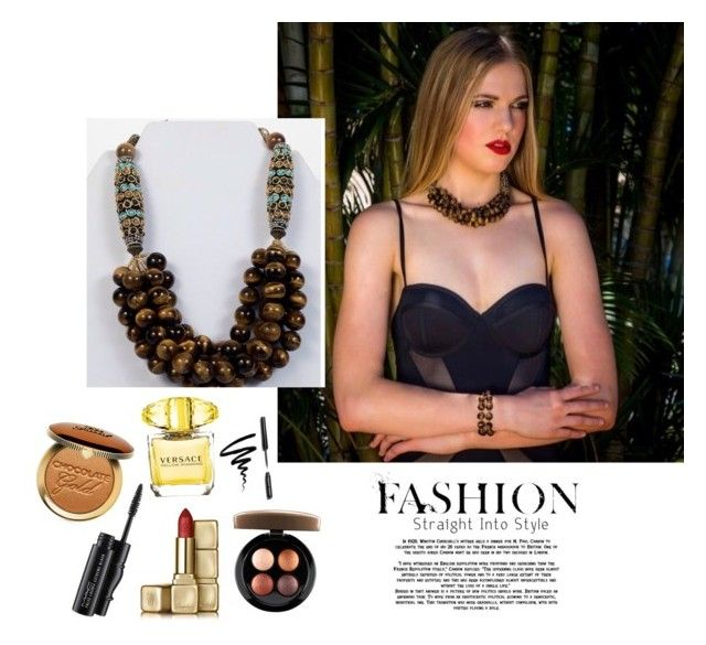 """Shop online Bella necklace 🙌💁 www.marcelasaccessories.com"" by look-marce on Polyvore featuring Too Faced Cosmetics, MAC Cosmetics, Bobbi Brown Cosmetics, Versace and Guerlain"
