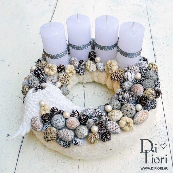 Christmas wreath, table decoration / Adventi koszorú - Karácsony 2015 - Di Fiori