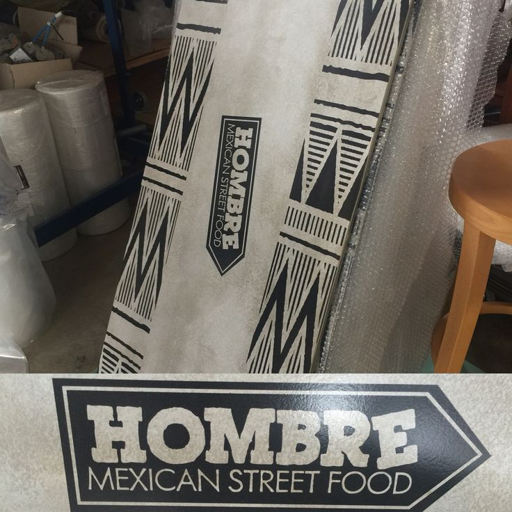 Table Tops for Hombre Mexican Street Food chain.