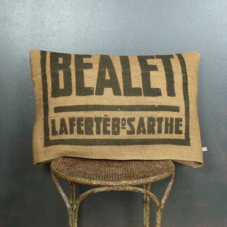 17 meilleures id es propos de sacs de caf en toile de for Housse de coussin anglais