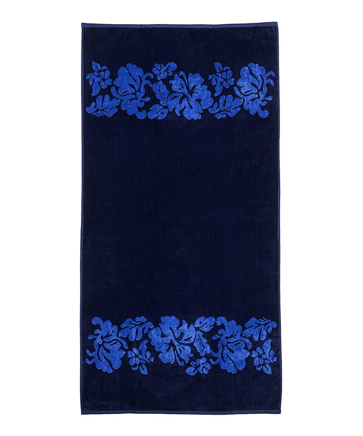 Beach Flowers Oversize Beach Towel