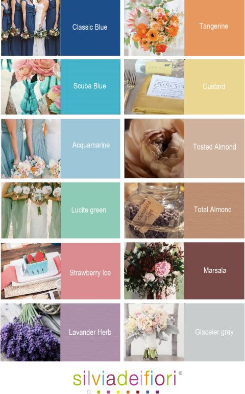 Pantone color trend of 2015 #silviadeifiori