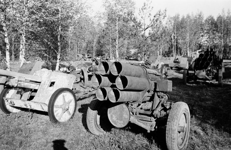German 50 Mm Anti Tank Gun: Captured The 150-mm Rocket Launchers 'Nebelverfer' 41 (15