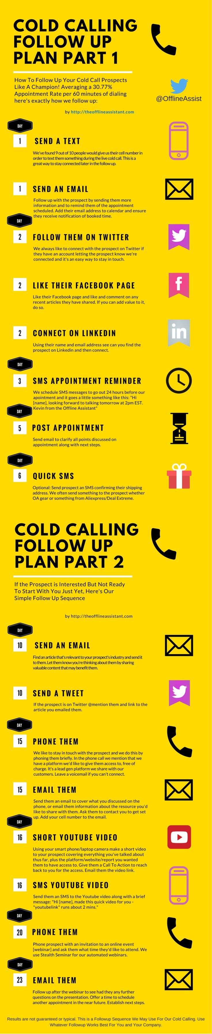 Cold Calling - How To Follow Up #Infographic #coldcalling #salestips…