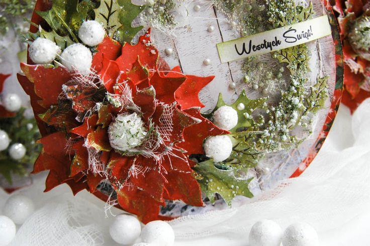 Цветы для новогодней открытки
