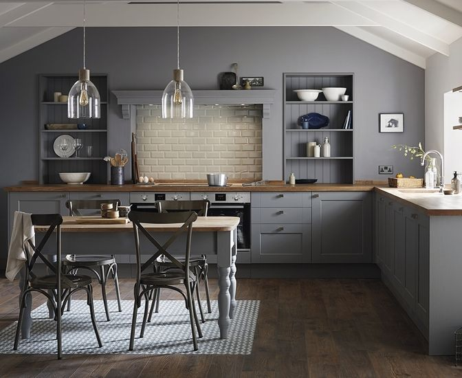 Fairford Slate Grey - next house this is the kitchen I want! Different work tops - marble
