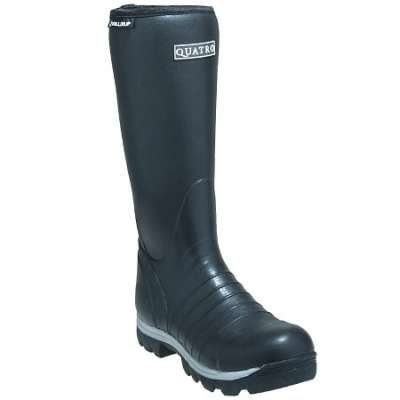 Skellerup Boots: Unisex 16 Inch FRQ4 Black Quatro Insulated Rubber Boots