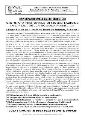 COBAS Careggi: Giornata nazionale di mobilitazione in difesa dell...