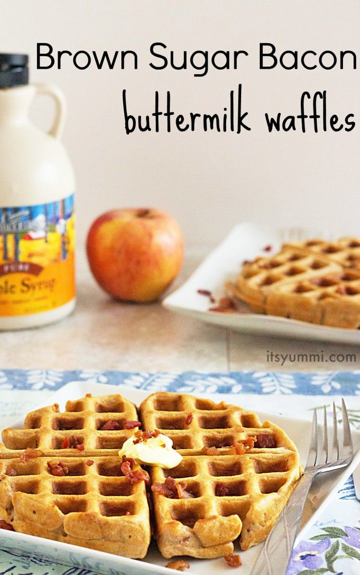 Brown Sugar Bacon Waffles - because every day deserves bacon! #baconmonth