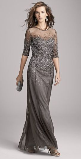 Gray sparkle Mother of the Bride dresses she won't hate!~