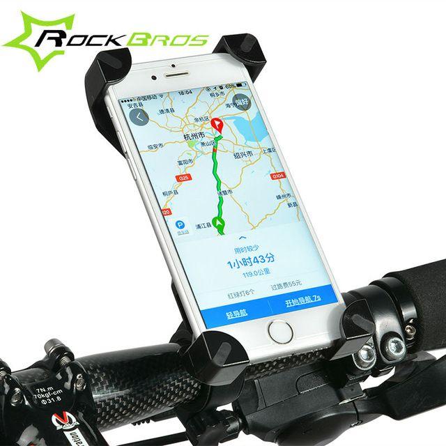 Rockbros bicicleta universal pvc manillar de la bicicleta mount holder soporte del teléfono para el iphone samsung htc sony teléfono móvil accesorios de ciclismo