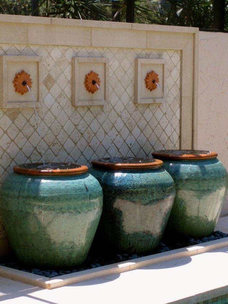Florida lanai fountain by Arthur Neumann and Jennifer Manley from idea by Emma Crosby