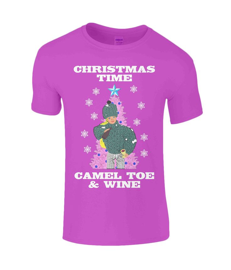 Rude, Funny, Christmas T Shirt, Christmas Time, Camel Toe & Wine! (Xmas Song, Humour, Dolls, Cliff, Wine, Drinking) by PlasticpamDesign on Etsy