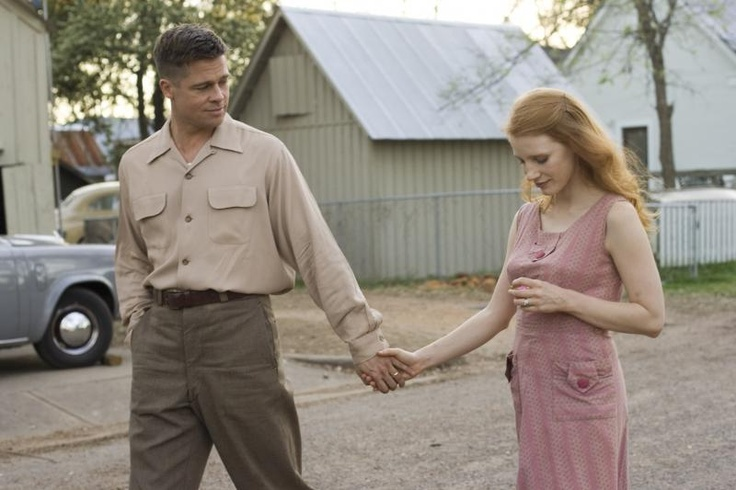 Brad Pitt and Jessica Chastain in THE TREE OF LIFE