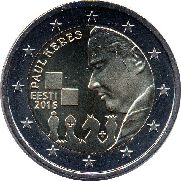 Estonia, 2 euro 2016 - Paul Kérès