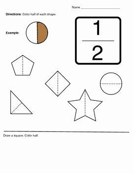 Halves Worksheet Kindergarten