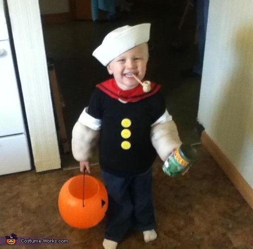 Popeye Costume Halloween Costume Contest via costumeworks halloween costume #DIY    #Halloween #halloweencostumes