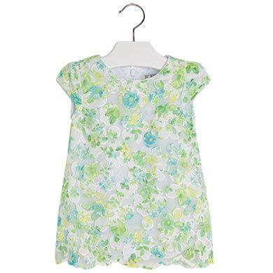 Sukienka dla dziewczynek 0-2 lata. Vestido de musselina estampado Verdes