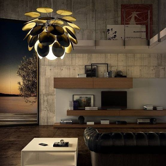 #Exuberant even when turned off, the #richness of the #light issuing from the #Discocó #lamp provides direct downward #illumination along with a #dramatic #play of #lights and #soft #shadows.#lights #light #lighting