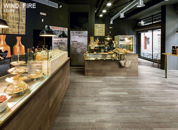 #Wood #tiles #restaurant #decor #cafe #floor #design #idea #wall #black #bar #dimopouloshouse #decoration