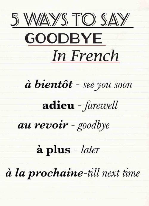 5 ways to say goodbye in French