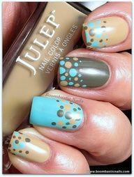 DOTS! Love the colours. #nails #nailart
