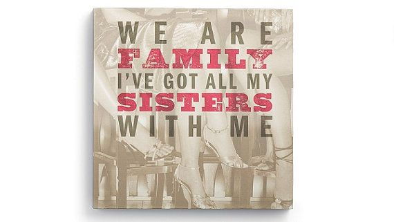 Lyricology We Are Family Wall Art by Womersley2005 on Etsy