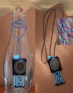 square, necklace