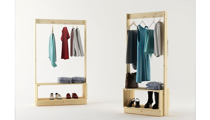 Beka hanger rack by Silvia Ceñal