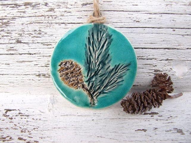 Winter Foliage Decoration Glazed Ceramic By