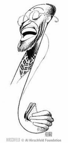 "Al Hirschfeld ~ Cleavon Little in ""I'm Not Rappaport"""