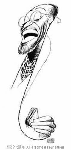 "Al Hirschfeld ~ Cleavon Little in ""I'm Not Rappaport"""