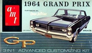1964 Pontiac Grand Prix (3 'n 1) Stock, Custom or Racing (1/25) MINT | Stuff the Wife should buy me | Pinterest | Model cars kits, Cars and Model