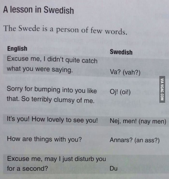 The swedish language