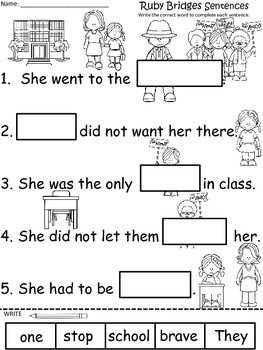 Ruby Bridges Worksheets For Kindergarten