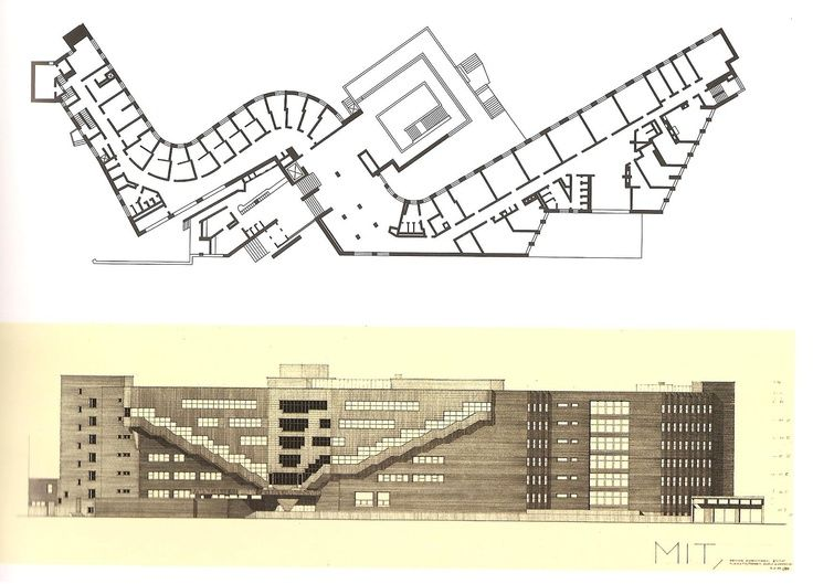 Alvar Aalto Baker House 1947 49 Plan Elevation