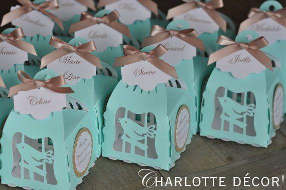 Boite à Gateaux à offrir aux invités par Charlottedecor7 sur Etsy