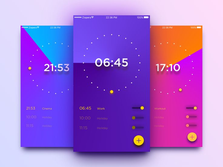 100 Days UI Challenge - Day 13: Alarm Clock on Behance