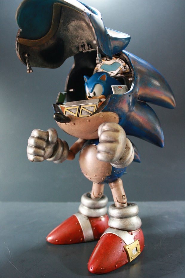 Holy fucking shit. Metal sonic being piloted by actual sonic. Can you say MiNdFuCk? DO WANT!!!