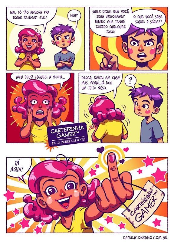 Camila Torrano - Olha minha carteirinha de gamer...