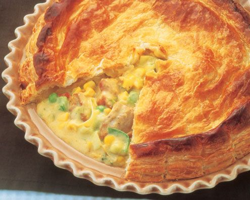 Creamy Chicken and Corn Pie recipe from Food in a Minute