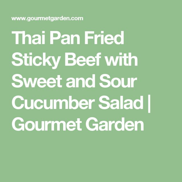 Thai Pan Fried Sticky Beef with Sweet and Sour Cucumber Salad   Gourmet Garden