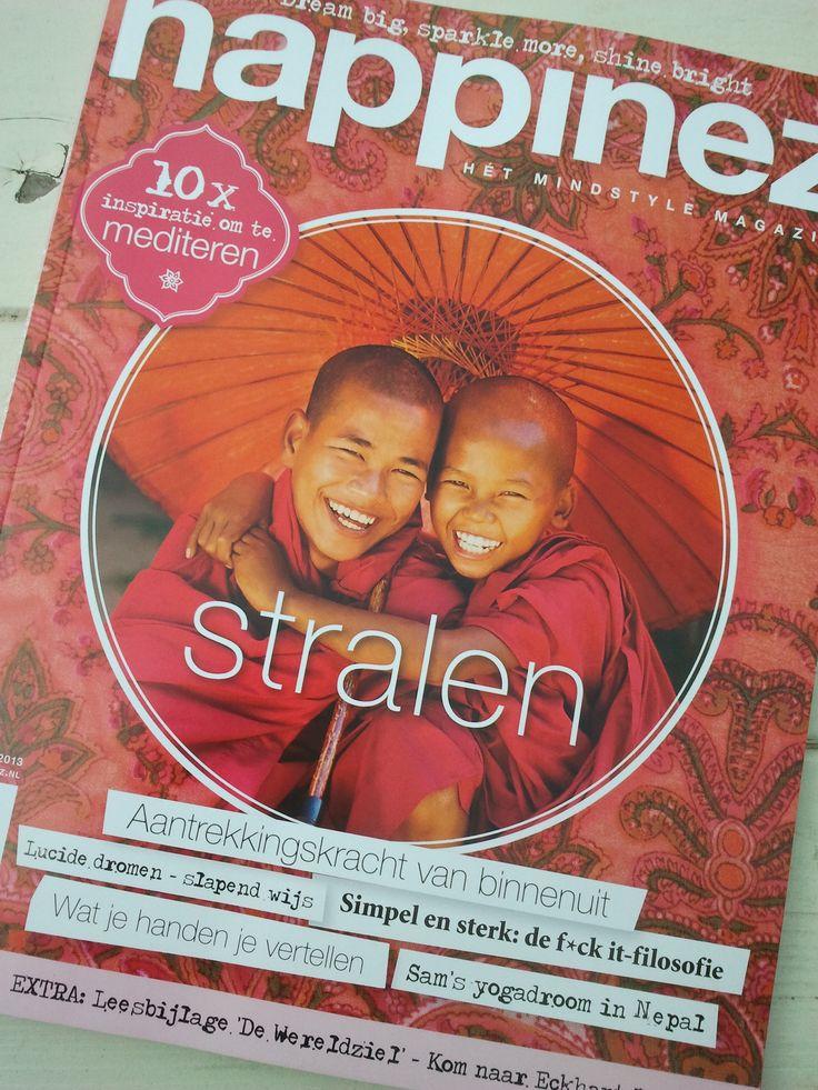 6 september 2013. Op aanraden van iemand op twitter kocht ik vandaag dit kadootje voor mezelf: Happinez Magazine. Ik ben benieuwd!